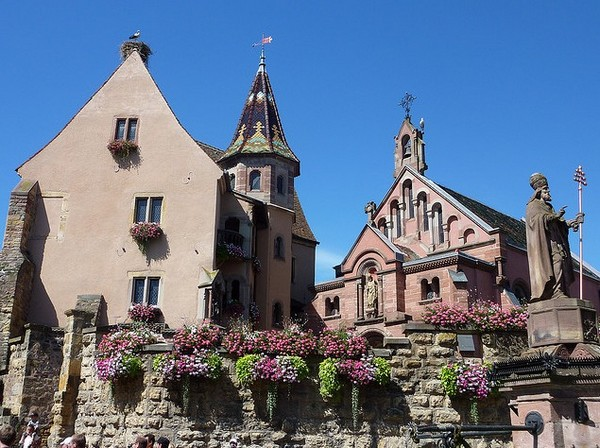 Photo du village d'Eguisheim, dans le bas-Rhin