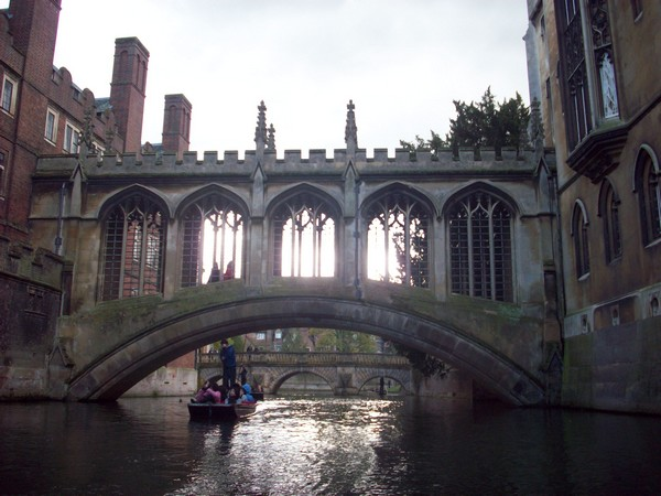 Photo du pont des soupirs de Cambridge