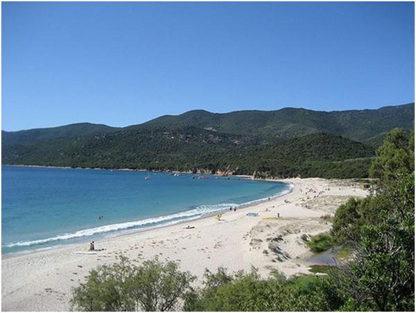 Plage de Cupabia en Corse