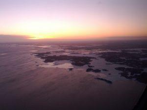 Vue aérienne arrivée Helsinki